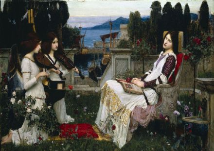 Waterhouse, John William: Saint Cecilia. Fine Art Print/Poster. Sizes: A4/A3/A2/A1 (00850)